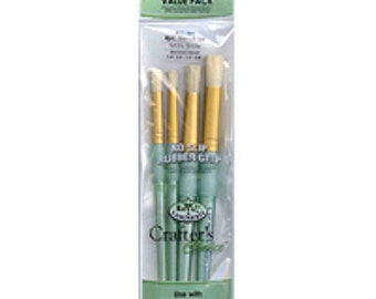 Stencil Brush pack (4 in pack) by Royal Langnickel