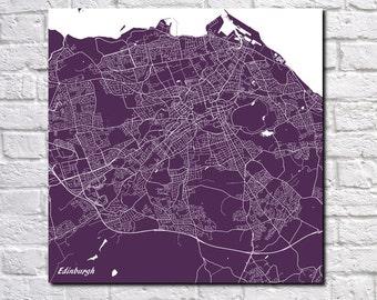 Edinburgh Street Map Print Map of Edinburgh City Street Map Scotland Poster Wall Art 7099S