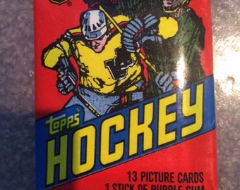 1981 TOPPS Hockey NHL Wax Packs Unopened 2 Packs