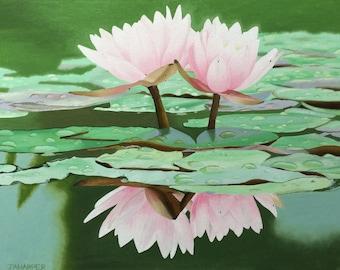 Lotus Flower - original oil painting 20x16