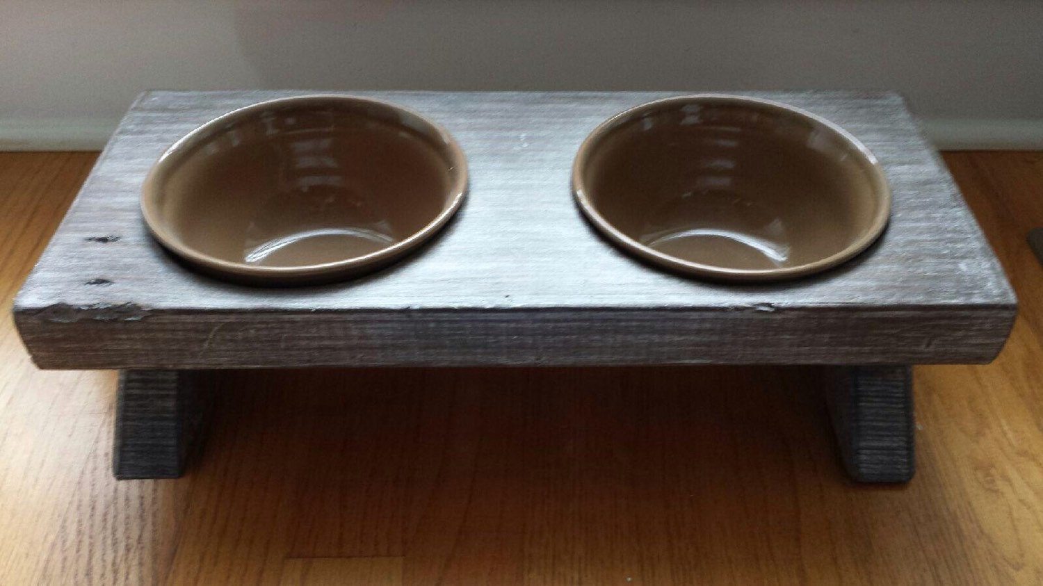 Raised Small Dog Bowl Dish Farm Table Elevated Stand