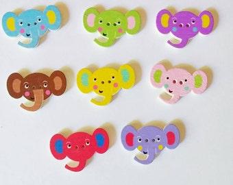 Elephant Buttons x 8