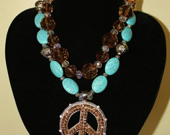 Peace, Brown &Turquoise