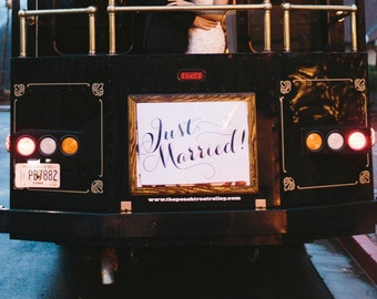 DIY Printable Just Married Banner