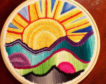 Hand embroidered wall hanging