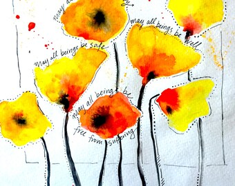 Peaceful Yellow Poppies