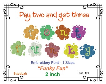 Embroidery font funky fun Machine Embroidery