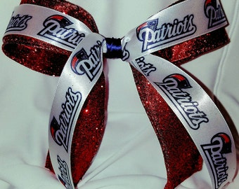 New England Patriots Cheerleader Hair Bow, NFL, Fan