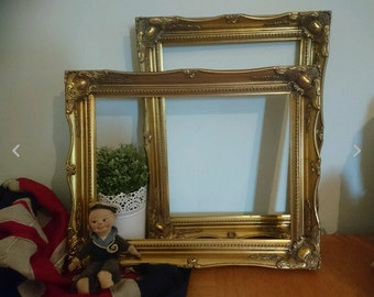 2 x  French Vintage Baroque /  Ornate Style Frames. Gold Picture Frames