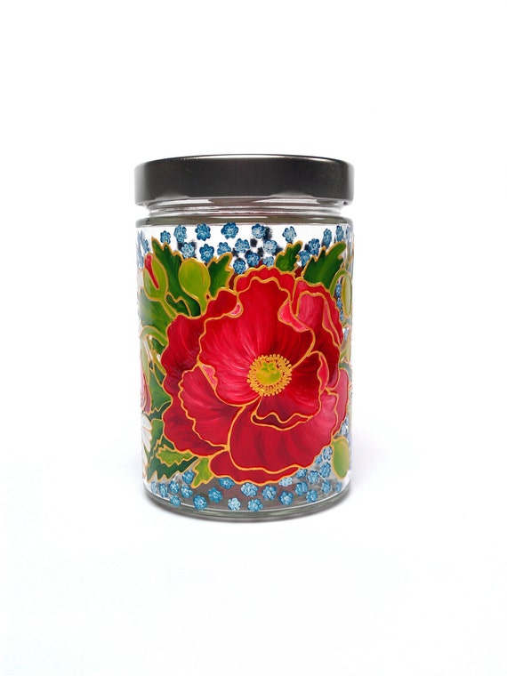 Kitchen decor containers jar glass jar jar by for Christmas glass jars