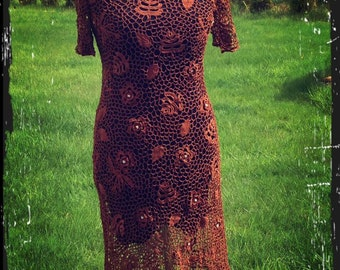 Irish crochet dress