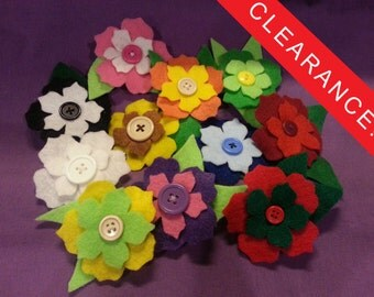 Flower clips and pins colorful custom