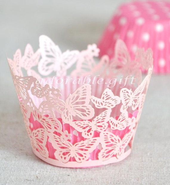 Cupcake Wrappers Cupcake Liner Laser Cut Decorations