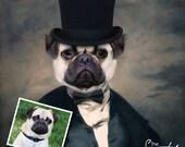 DOG PORTRAIT –Dog Print–Dog Portrait Custom – Pet Portraits – Custom Pet Portraits –Dog Art -Pet Portraits From Photo - Custom Dog Portraits