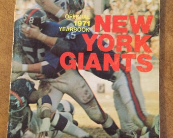 New York Giants Yearbook 1971