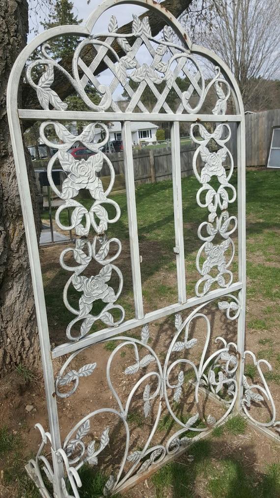 vintage garden trellis cast iron garden decor flower antique, Garden idea