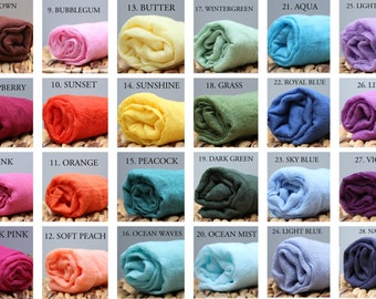 "Set of 3 Newborn Cheesecloth Wrap Photography Prop Hand Dyed Pick Your Colors 36"" x 54"" Grade 50"