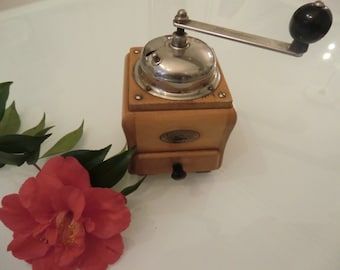 Old and pretty coffee grinder of the German brand ZASSENHAUS