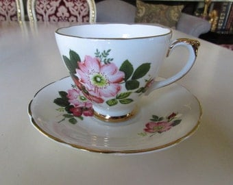 ENGLAND DELPHINE TEACUP and Saucer Set