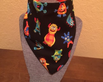 Little Monster Waterproof/Reversible Bibdanas for Infants and Toddlers