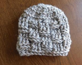 Premie/Newborn Basket Weave Beanie