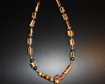 Women necklace made of wood
