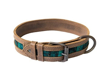Rustic Mayan Dog Collar Handmade by Hide & Drink - Tropical Lime