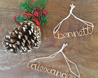 Personalized Copper Wire Christmas Ornament | Christmas Decor | Handmade Ornament | Custom Name Ornament | Gift For Her