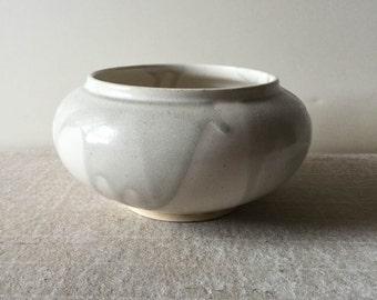 Handmade white and celadon decorative bowl