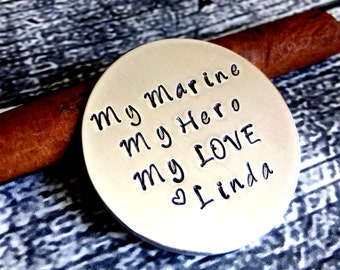 Personalized Military Token,Wallet Token,Marine Gift,Army Gift,Navy Coin,Air Force Token,Deployment Gift,Personalized Coin,Hand Stamped Coin