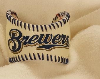 Milwaukee Brewers Baseball Cuff Bracelet