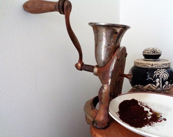 Coffee Mill, Coffee Grinder,  Antique Coffee Grinder, Cast Iron Coffee Mill, Belgian Coffee Mill, Peree Fils à Liege Brevete, 1900