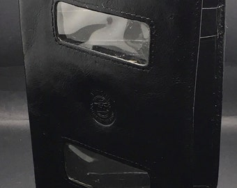 Vintage Mancini Fine Leather Goods   Bifold Wallet Driver License Cards Bills Business Cards  Identifier ID Billfold Gift For Men