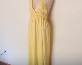 1970's Cotton Halter Dress