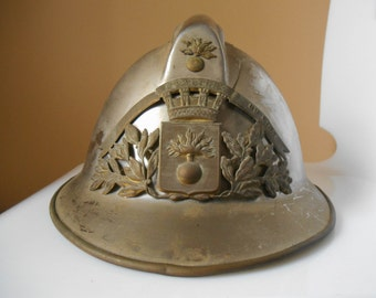Antique french helmet fire chief from the 1920s to the expensive (18)
