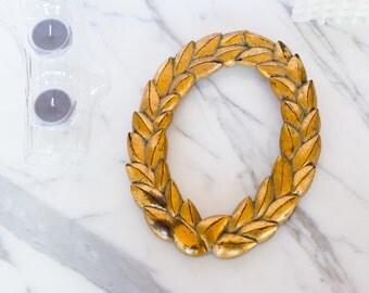 Gilded Wreath Oval Frame