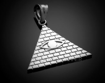 Sterling Silver Illuminati All Seeing Eye Pendant
