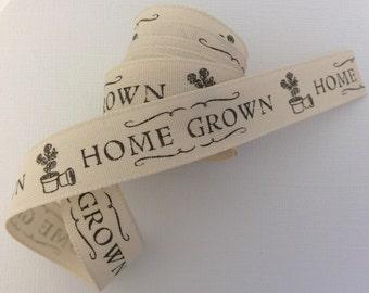 Gardening Home Grown Ribbon