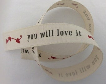 Ivory Hearts Gift Ribbon