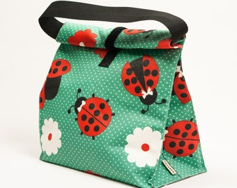 Lunc box. Lunch tote. Lunch bag. Reusable. School lunch bag. Green lunch bag
