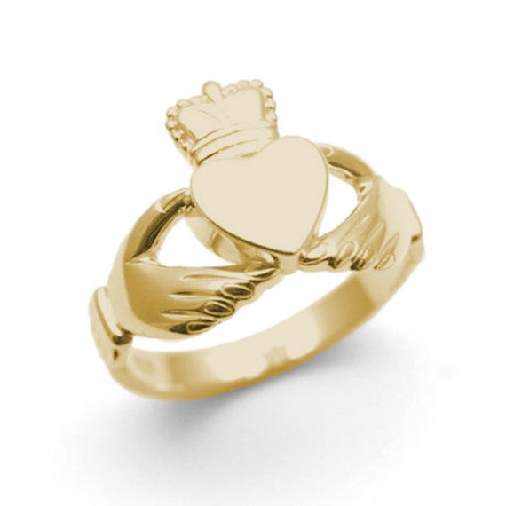 claddagh ring 9ct gold cl5