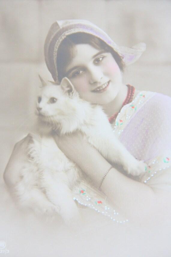 Vintage Postcard Sepia Colored Portrait, Photo, Unused