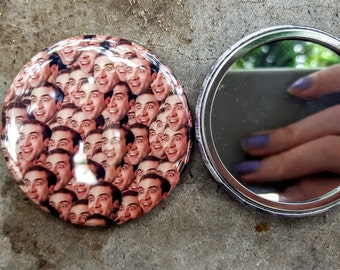 Nick Cage 2.25 inch 58MM purse pocket hand button mirror