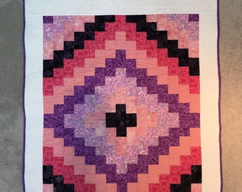 CUSTOM Darling Diamond baby quilt kit--your colors! (TOP ONLY)