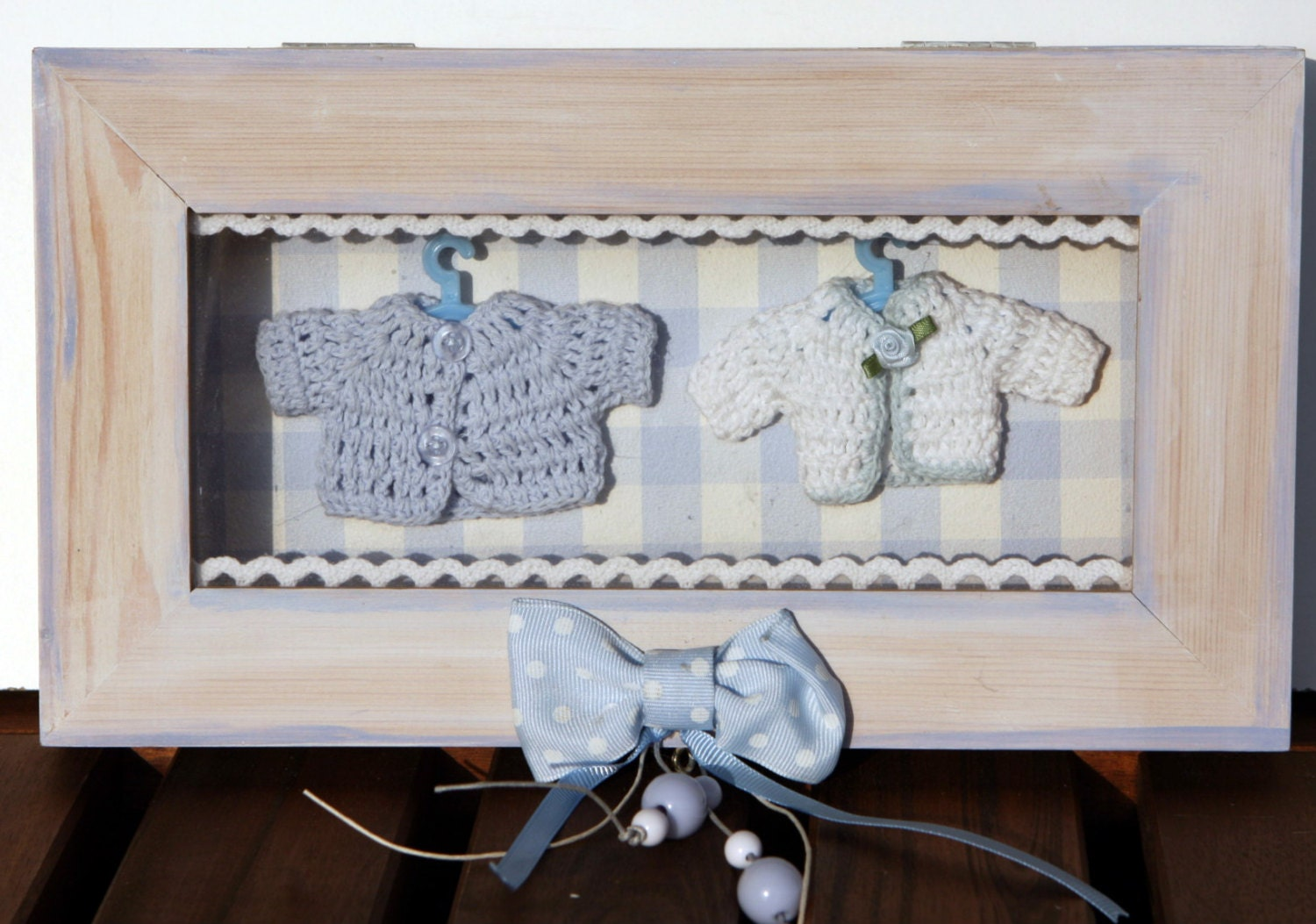 Baby Bedroom In A Box Special: Wooden Shadow Box Baby Boy Nursery-Baby Room Wall Decor-Baby