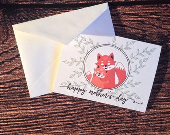 Fox mother day card