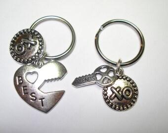 Set of 2, BEST FRIENDS, Key Rings