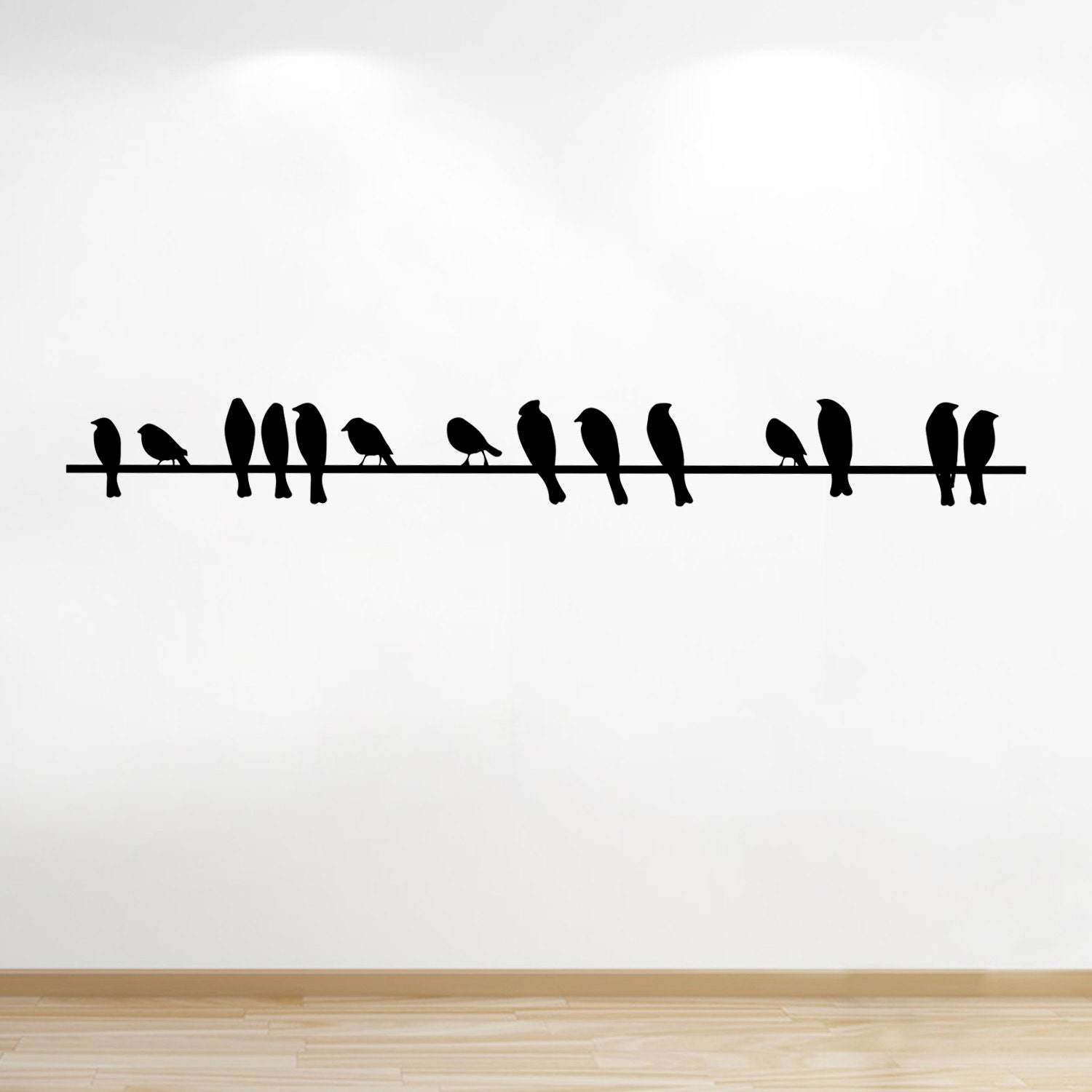 Birds On A Wire Vinyl Wall Sticker Birds Living Room Wall Sticker Wall Decal Wall Art Home Decor Bedroom Decor Christmas Gift Idea