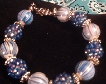Swirly blue bracelet