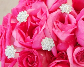 Crystal Cluster Flower Bouquet Swirl Jewelry (Set of 4)